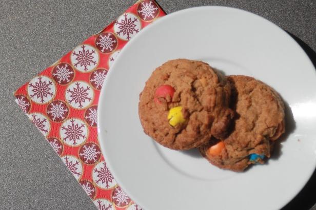 Cookies de mantega de cacahuet i m&ms